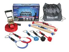 Slackers NinjaLine 30′ Intro Kit 11 metres Monkey Bar Rings Ninja Warrior