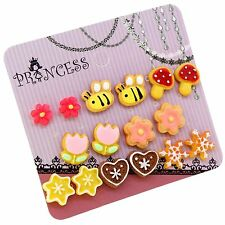 Wholesale Lot of 8 Pairs Color Cute Magnetic Clip on Stud Earrings for Teen Girl