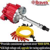 65K Chevy HEI Distributor & Spark Plug Wires Kit GMC SBC 350 305 400 BBC 454 396