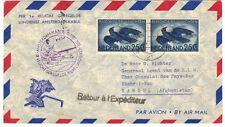 NETHERLANDS AFGHANISTAN 1955 FIRST FLIGHT AMSTERDAM TO KABUL BACKSTAMPED KABOUL