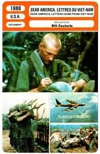 DEAR AMERICA LETTRES DU VIET-NAM (Fiche Cinéma) 1988 - Letters Home from Vietnan