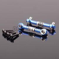 RC 1/10 HPI WR8_flux 107905 NAVY 2P Aluminum Front/rear & Servo Link For