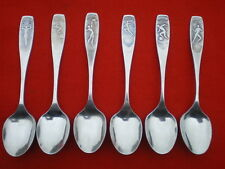 Russian Vintage XXII Olympic Games in Moscow 1980 Spoon Set (6).