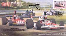 1974 MCLAREN-COSWORTH FERRARI 312B3 MOSPORT PARK F1 cover signed LORD HESKETH