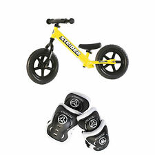 Strider 12 Sport Balance Bike + Elbow and Knee Pad Set for Kids 2 - 5 Years Old