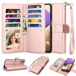 For Samsung Galaxy A32 5G Wallet Case Leather Card Flip Detachable Phone Cover