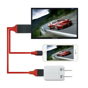 HDMI Adapter Cable Digital to AV TV For  Apple Iphone 6 7 8 Plus X Ipad