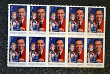 2018USA Forever Mister Rogers - Block of 10 stamps  Mint NH