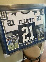 Ezekiel Elliott Authentic Autograph Framed Jersey COA NFL Cowboys