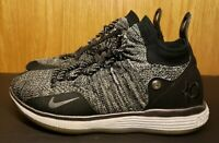 Nike KD 11 FlyKnit Boys Size 7Y Black/White/Gray Oreo AH3465-004