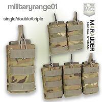 Marauder Open Top Ammo Pouch - MOLLE - Single/Double/Triple - British Army MTP