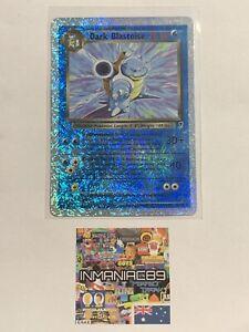 Dark Blastoise 4/110 REVERSE Foil Holographic Pokemon Card Legendary Collection