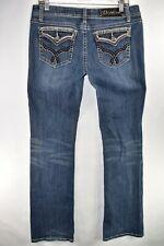 LA Idol Bootcut Boot Cut Womens Jeans Size 11 Stretch Meas. 32x33.5 Flap Pocket