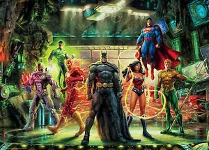 Ceaco Thomas Kinkade DC Comics The Justice League Puzzle 1000 Pieces