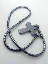 Collana Croce Ansata o Ankh in Ematite Chiave della Vita I Gioielli di Vicky