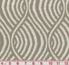 Golding Belton Taupe Woven Stripe Upholstery Fabric BTY