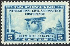 #650 XF MNH OG-5c Aeronautics Conference Issue BIG GEM STAMP (REM #650-4)