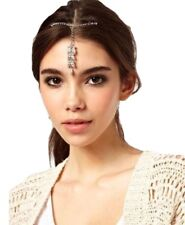 Cheveux Perle Bijoux Mariage Tilak Tikka Tête Robe Zircone Strass Cristaux