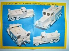 MGM 080-210 1/72 Resin WWII German Kaelble Tractor Type Z6 W 2 AL 130