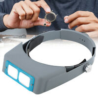 Headband Magnifier Glasses with 4 Lens Head Visor Loupe for Jewelry Watch Repair
