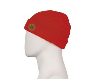 NWT MENS 686 GOOD TIMES ROLL-UP BEANIE $20 ONE cardinal rolled cuff label