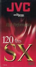 JVC SX 120 Blank VHS Video Tape 6 Hours New Sealed