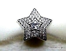 NEW! AUTHENTIC PANDORA CHARM WISHING STAR #791384CZ  *CLEARANCE*