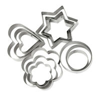 12PCS/Set Cookie Biscuit Cutter DIY Pastry Baking Mousse Cake Metal Mold