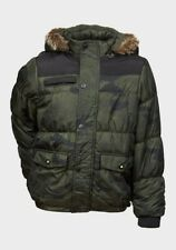 NEW Minoti Boys Khaki Camouflage Padded Jacket + Detachable Hood - Age 4-5 Years
