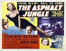 THE ASPHALT JUNGLE Movie POSTER 22x28 Half Sheet B Sterling Hayden Louis Calhern