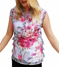 Mandarin Collar Casual Floral Tops & Shirts for Women