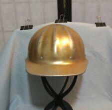 New listing Vintage SuperLite By Fibre Metal Gold Aluminum Hard Hat*