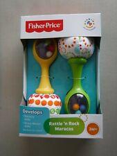 Fisher-Price Rattle 'n Rock Maracas, Green/Yellow 3M+
