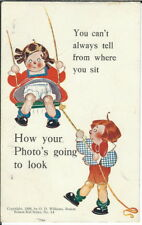 BA-443 From Where You Sit, Boston Kid Series # 14, 1907-1915 Golden Age Postcard