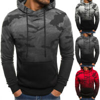 NEW Men's Outwear Sweater Winter Hoodie Warm Coat Camo Jacket Hooded Sweatshirt