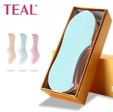 6 Pairs Invisible Anti-Bacterial Deodorant Womens Girls Socks with Box 6 colors