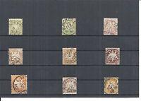 Bayern 1870 - 1900, verschiedene Einzelmarken aus MiNrn: 22 - 68 o, gestempelt o