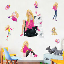 Barbie Girls Wall Stickers Nursery Decor Removable Vinyl Decal Art Mural Gift