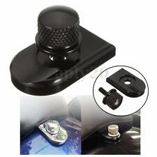 Black Seat Bolt Tab Screw Mounting Knob Cover For Harley Softail Streetbob Road