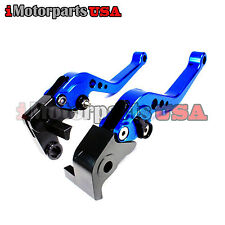 2005-2016 YAMAHA YZF R6 SHORTY BRAKE & CLUTCH LEVERS ANODIZED BLUE ALUMINUM NEW