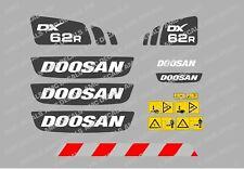 DOOSAN DX62R DIGGER DECAL STICKER SET