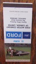 1972 FORD PINTO CAR DEALER: OAKVILLE, ONTARIO -JL9