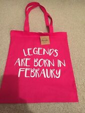 Pink Cotton Shopping Bag BNWT, Can Be Used Over The Shoulder