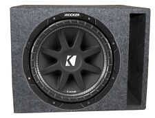 "Kicker Comp 43C154 15"" 500W Car Subwoofer + Single Vented Sub Box Enclosure"