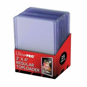 25 x Ultra Pro Toploaders CLEAR POKEMON Card Protector Top Loader Toploader