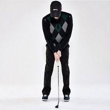 Slazenger Da Uomo Argyle Golf Collo V Maglione Pullover Manica Lunga 100% COTONE R661-5