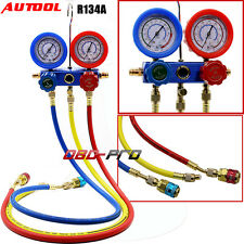Auto Air Conditioning Refrigerant Dual Gauge Pressure Gauge Repair Tools R134A