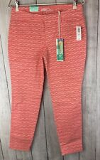 Old Navy Fish Stretch Pixie Pants Ankle Length Salmon Size 4 NWT
