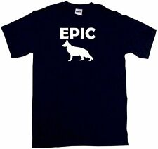 Epic German Shepherd Dog Silhouette Mens Tee Shirt Pick Size Color Small-6XL