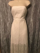 Bisou Bisou White Lace Overlay Dress Size 6 Strapless Cocktail Party Wedding